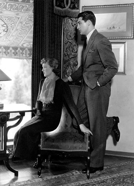 Virginia Cherrill and Cary Grant in 1934. Bizarre Los Angeles