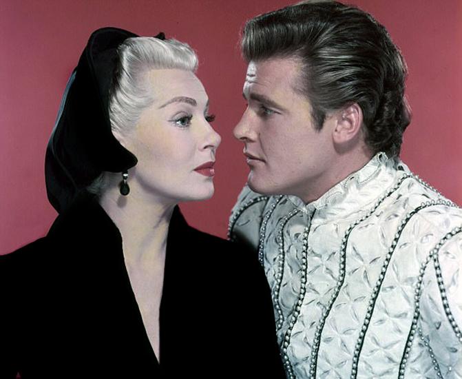 Lana Turner Roger Moore 1956 Diane
