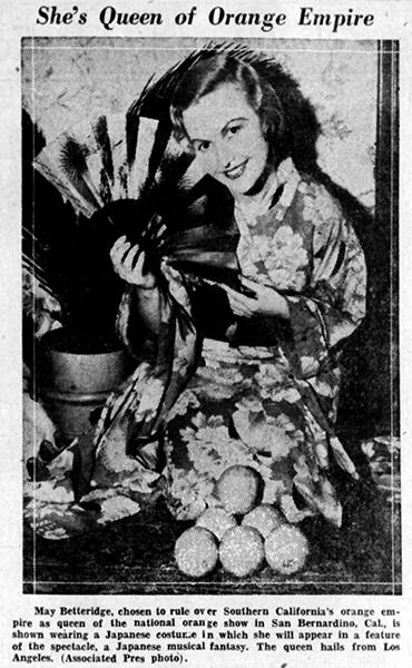 May Betteridge 1934