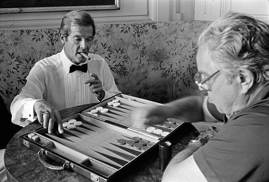 """""""I always say to Cubby Broccoli, who produces the Bond films, that he's got 16 fellows in a cupboard ready to replace me. Broccoli always answers, 'No, I got 17.'"""" -- Roger Moore (Bizarre Los Angeles)"""