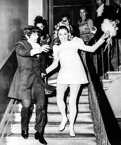 1968 wedding of Roman Polanski and Sharon Tate. (Bizarre Los Angeles)