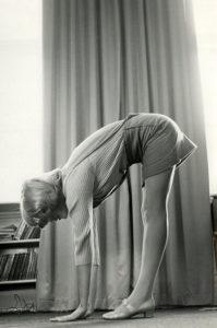 Sharon Tate exercising