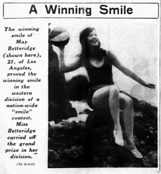 May Betterton Smiling Contest