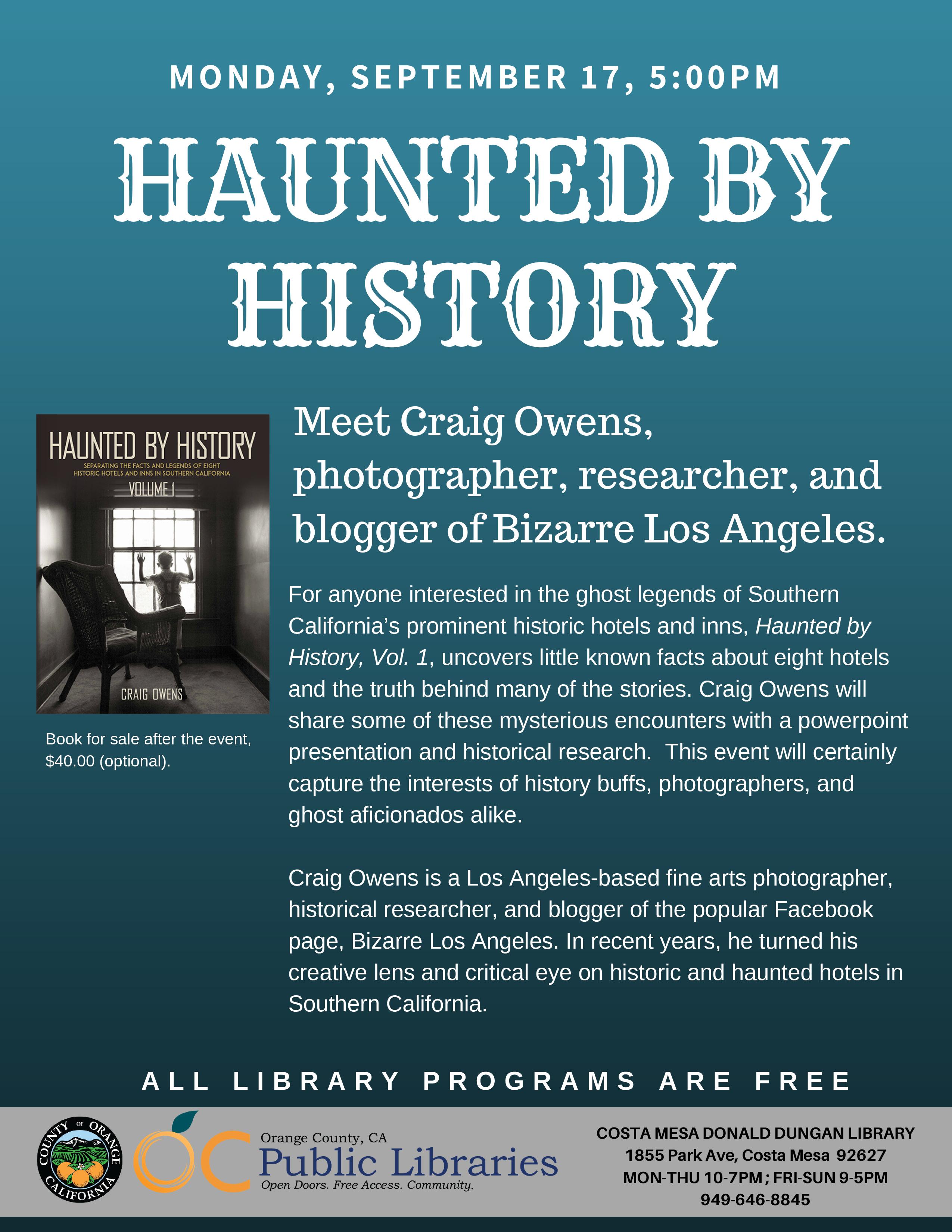 Haunted by History Costa Mesa