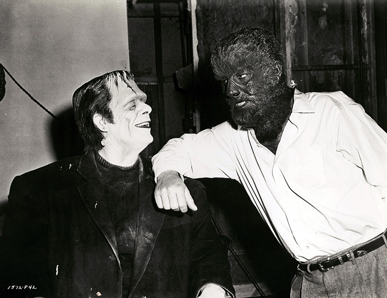Glenn Strange Lon Chaney Jr Frankenstein Wolfman