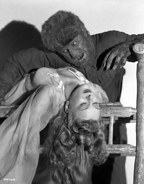 Evelyn Ankers Lon Chaney JR Wolfman