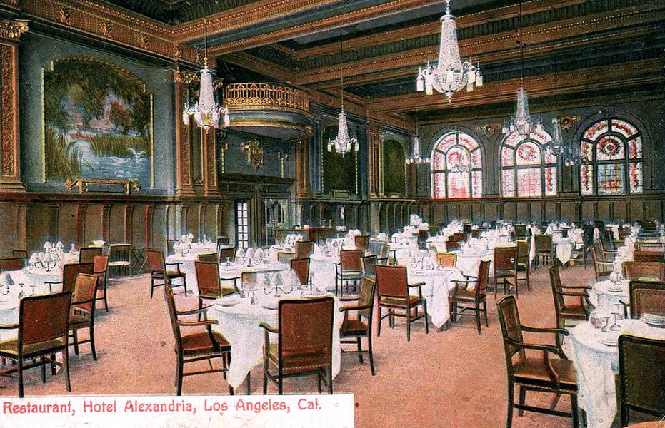 Haunted by History: Los Angeles Alexandria Hotel Dining Room (Bizarre Los Angeles)