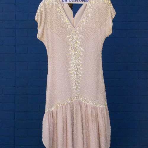 Pink Beaded Flapper Dress