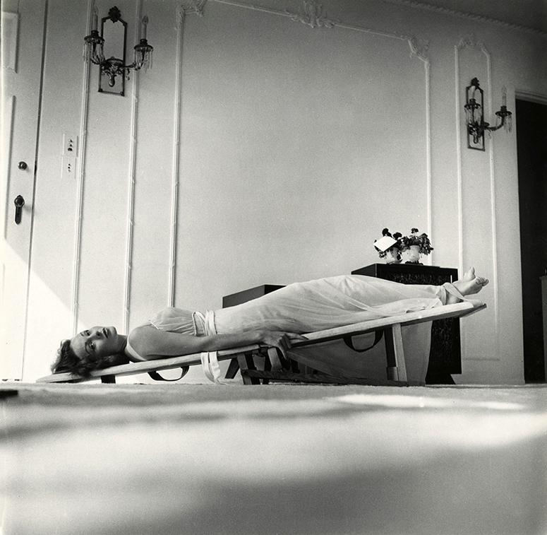 Jeanne Crain slant board