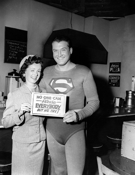 """How can a starving actor sell himself out? I wasn't doing anything when this chance came along. The way I look at it, a working actor is a good actor, no matter what he's doing."" -- George Reeves (Bizarre Los Angeles)"