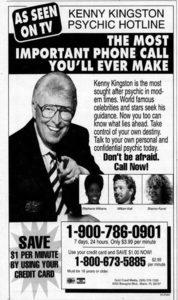 Kenny Kingston Psychic Hotline