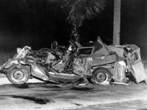 Dorothy Dell auto crash site in Pasadena, CA. (Bizarre Los Angeles)