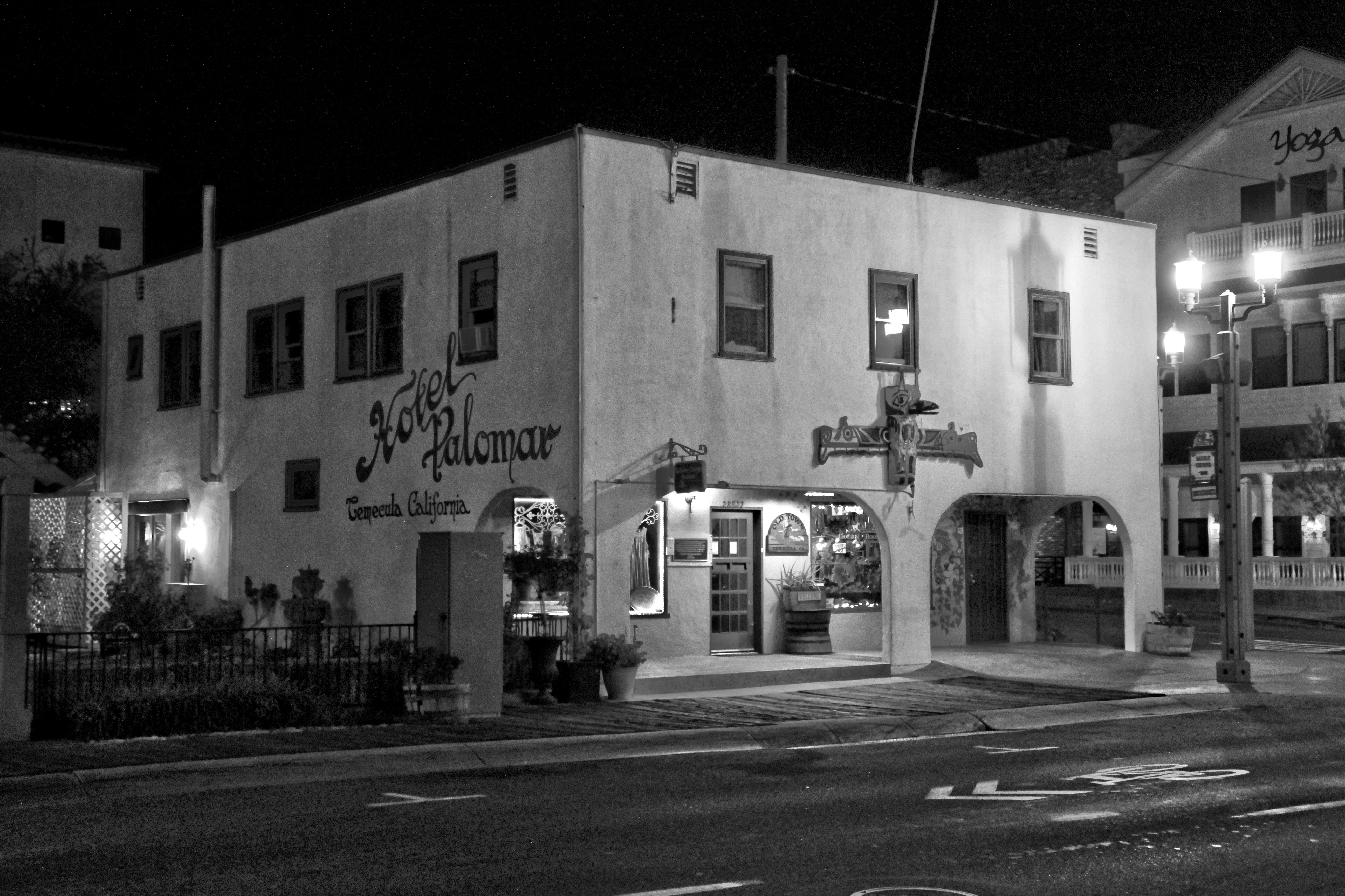 The haunted Palomar Inn Hotel in Temecula. CA.