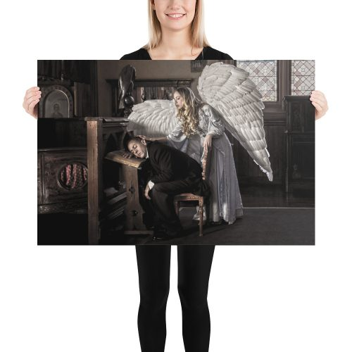 "Haunted by History: ""Guardian Angel"" Photo paper poster"