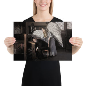 """Haunted by History: """"Guardian Angel"""" Photo paper poster"""
