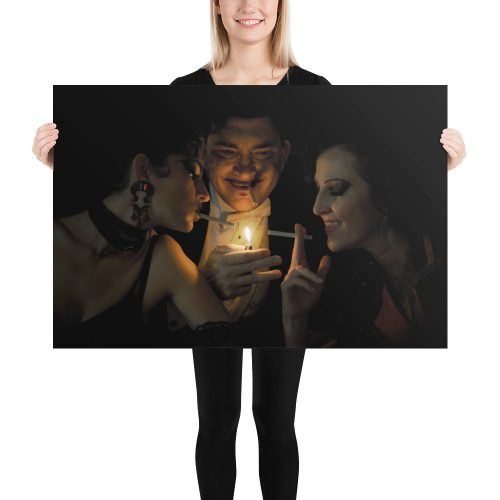 "Haunted by History: ""Playing With Fire"" by Craig Owens Photo paper poster large"