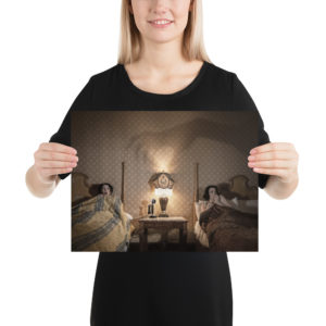 """Haunted by History: """"Spooky Night at the Glen Tavern Inn"""" by Craig Owens Photo paper poster - Alternative Colorized Version"""