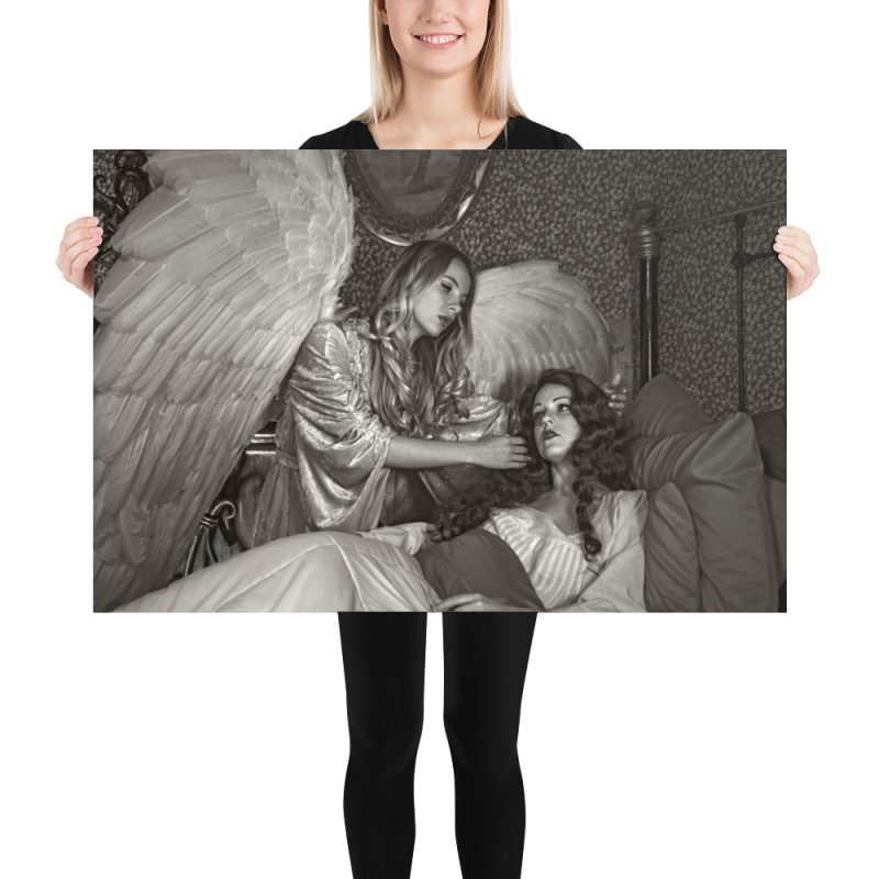 "Haunted by History: ""Touched by an Angel"" Photo paper poster"