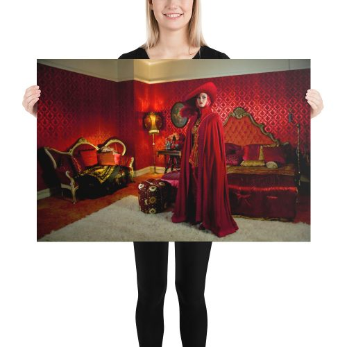 "Haunted by History: ""Lady in Red"" Photo paper poster"