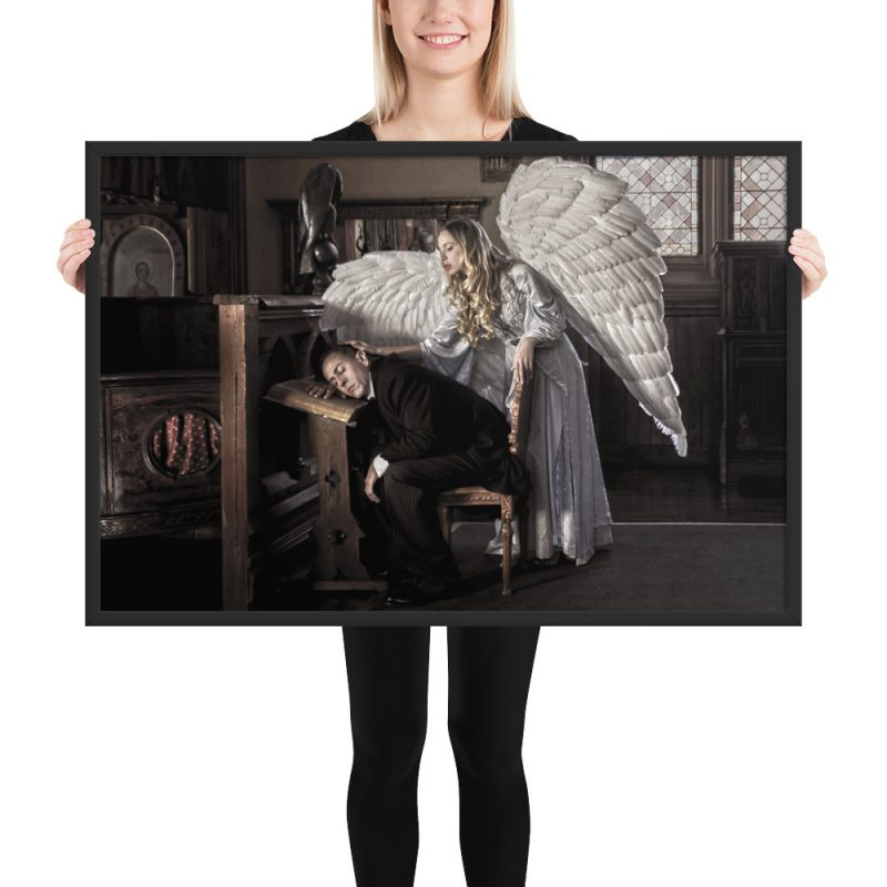 """Guardian Angel"" Framed Poster"