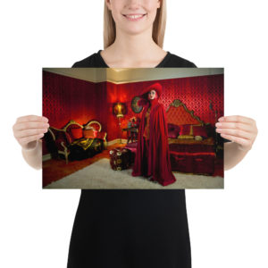 """Haunted by History: """"Lady in Red"""" Photo paper poster"""