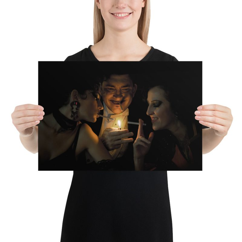 """Haunted by History: """"Playing With Fire"""" by Craig Owens Photo paper poster small"""