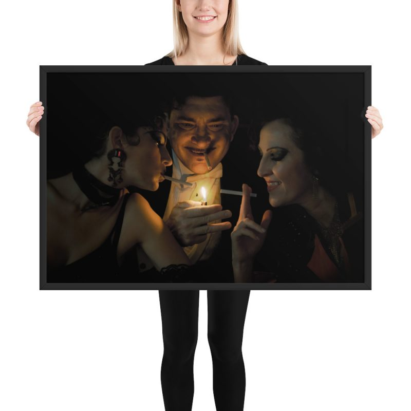 """""""Playing With Fire"""" Framed Poster"""