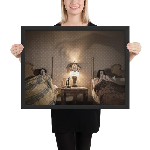 Colorized Spooky Night Framed Poster