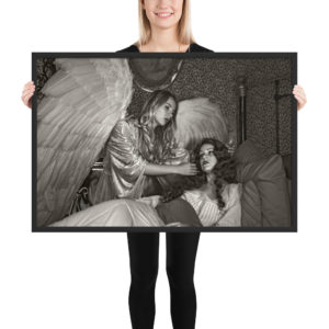 """""""Touched by an Angel"""" Framed Poster taken by Craig Owens inside the haunted Victorian Rose Bed & Breakfast in Ventura, CA."""