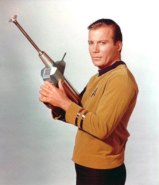William Shatner as Captain James T. Kirk in Star Trek (Bizarre Los Angeles)