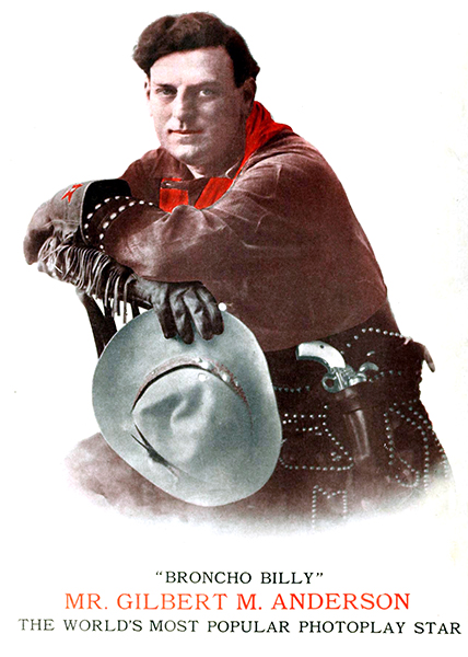 """""""When I decided to start making western pictures...I went out to a ranch at Amarillo, Texas, and learned how to ride."""" -- G.M. """"Broncho Billy"""" Anderson (Bizarre Los Angeles)"""