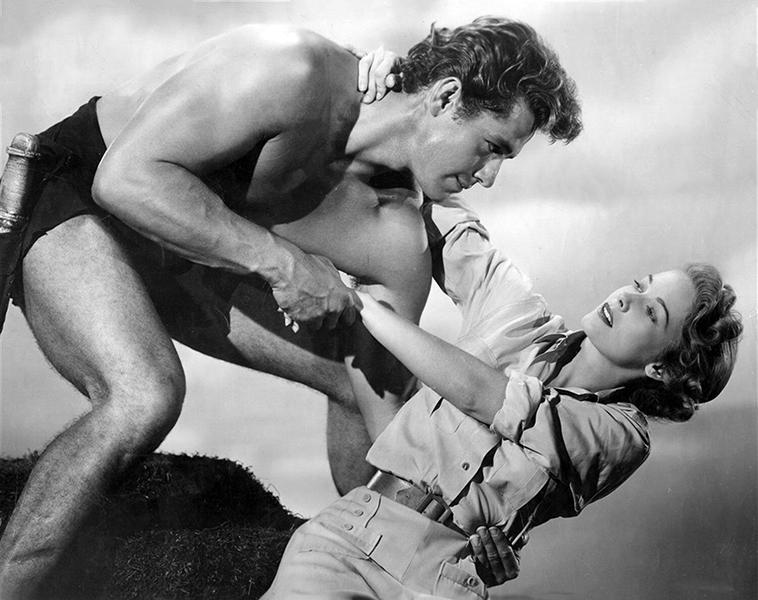 Gordon Scott and Vera Miles