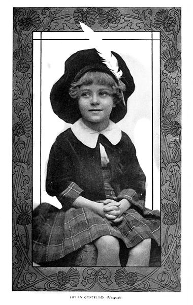 Helene Costello as a child. (Bizarre Los Angeles)