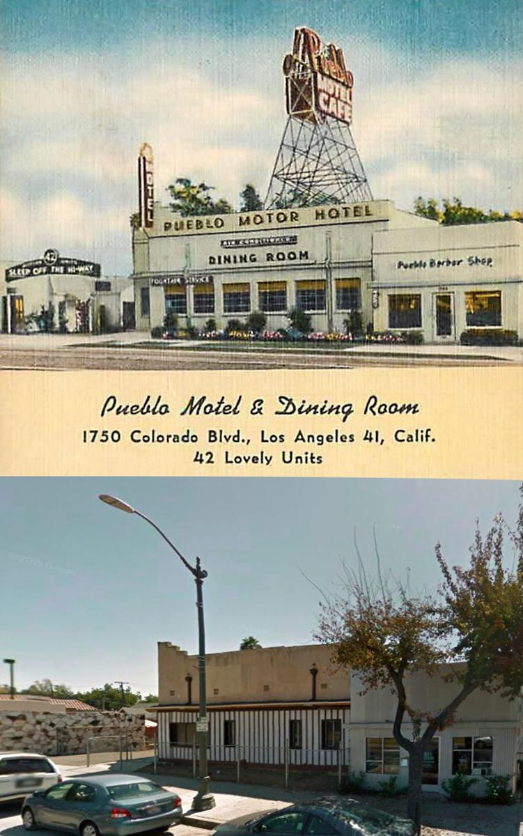 The Pueblo Motor Hotel in Eagle Rock (Bizarre Los Angeles)