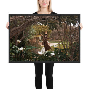 """""""The Dancing Ghost"""" Framed poster"""