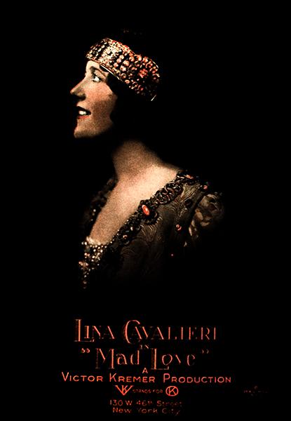 """Lina Cavalieri in """"Mad Love"""" (1920). Bizarre Los Angeles"""