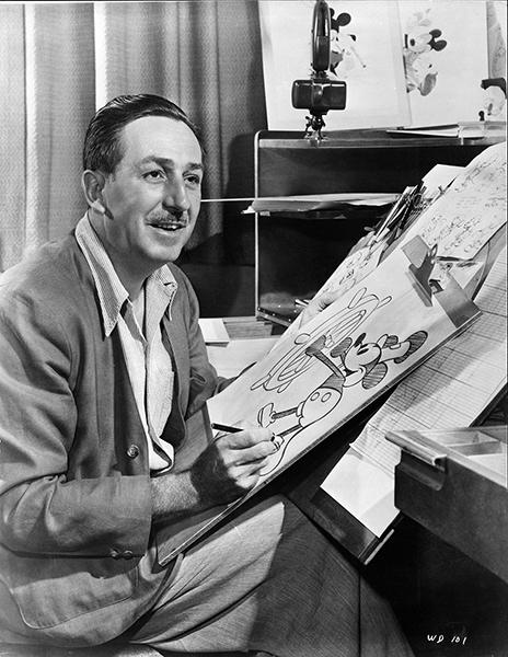 Walt Disney in 1950. (Bizarre Los Angeles)