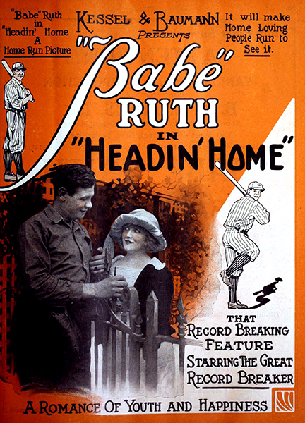 "Babe Ruth in ""Headin' Home"" (1920). Bizarre Los Angeles"