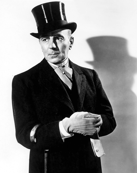 "Frequent mad scientist and diabolical movie villain George Zucco, known at Universal as ""One Take Zucco."" (Bizarre Los Angeles)"