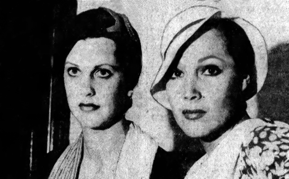 Sandra Shaw and Dolores Del Rio in 1932 (Bizarre Los Angeles)