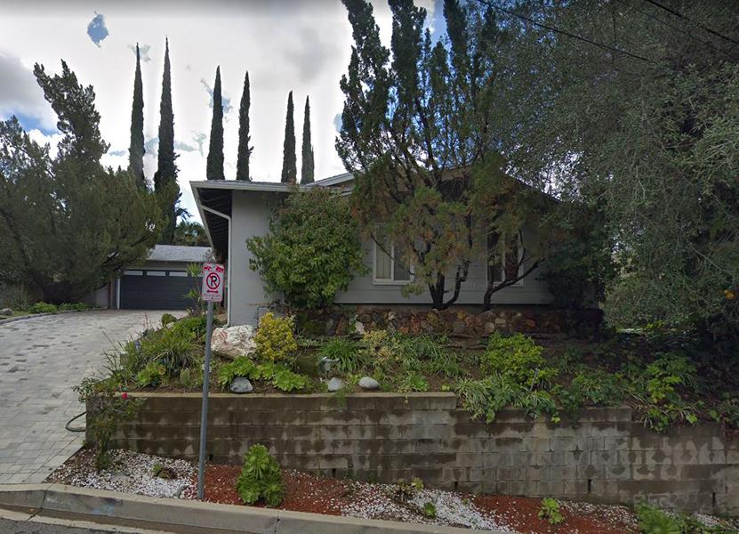 Nina Quartero's last residence at 4443 Pampas Road, Woodland Hills, CA. Bizarre Los Angeles.