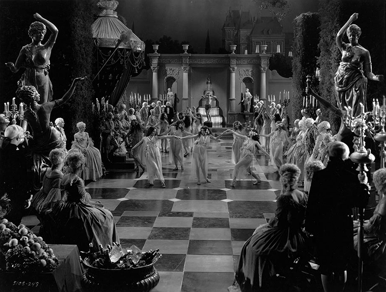"Chorus girls perform in the movie ""Captain of the Guard"" (1930) Bizarre Los Angeles"