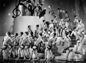 Chorus girls for the Paramount film, Her Bodyguard (1933). Bizarre Los Angeles