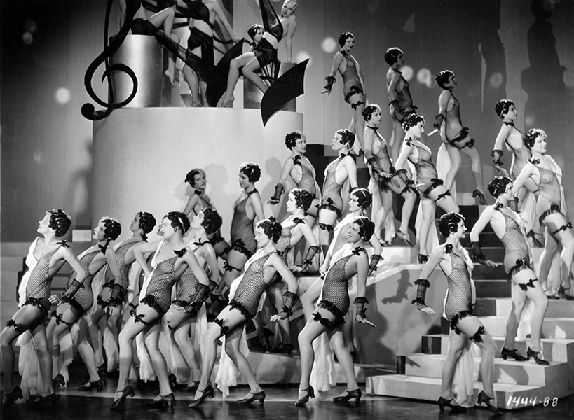 Chorus girls for the Paramount film, Her Bodyguard (1933). Bizarre Los Angeles