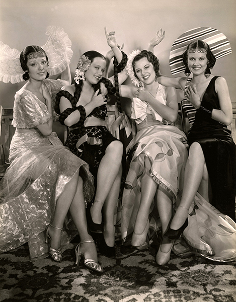 """Chorus Girls from """"The Broadway Melody of 1936."""" Bizarre Los Angeles"""
