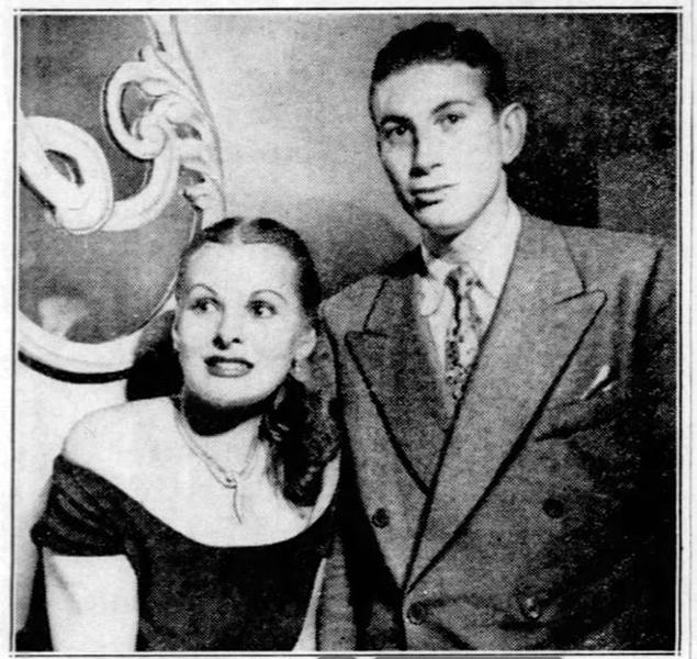 Georgette Windsor and Harry Cushman IV in 1948. (Bizarre Los Angeles)