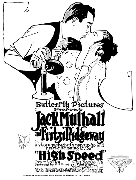 High Speed (1917). With Jack Mulhall. (Bizarre Los Angeles)