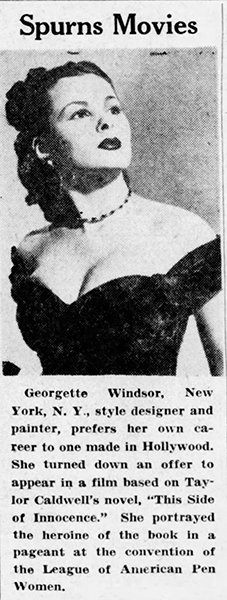 Georgette Windsor in 1946 (Bizarre Los Angeles)