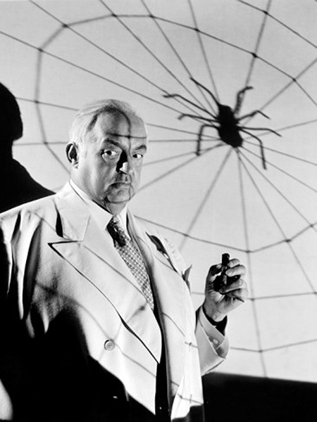 """There's no reason in the world that a fat man shouldn't have evil ideas."" – Sydney Greenstreet in 1942. (Bizarre Los Angeles)"