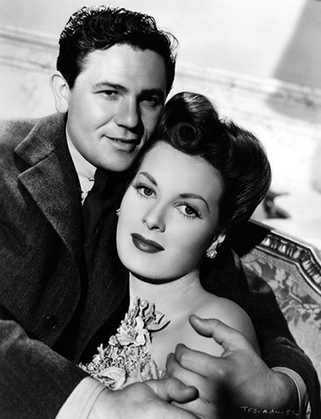 """He was my shortest leading man, an outspoken Communist and a real sweetheart."" – Maureen O'Hara on John Garfield. (Bizarre Los Angeles)"